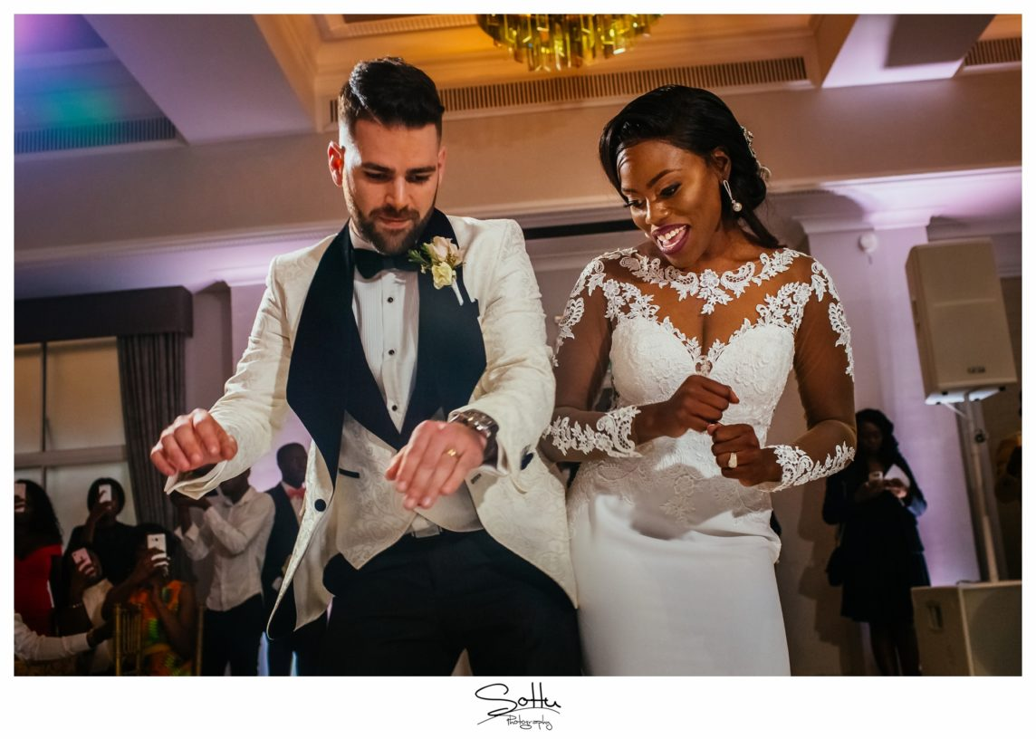 Eden & Quentin's French/Ghanian Wedding: Grand Connaught Room